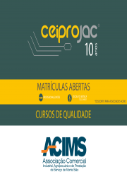 Vagas para o Segundo semestre cursos CEIPROJAC 2019
